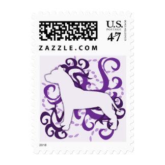 Purple Swirl American Pit Bull Terrier Postage Stamp