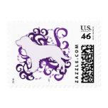 Purple Swirl American Water Spaniel Postage Stamps