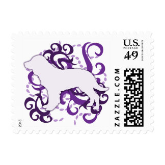Purple Swirl American Water Spaniel Postage Stamps