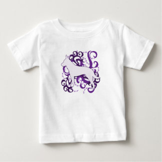 Purple Swirl Australian Cattle Dog Baby's Baby T-Shirt