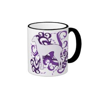 Purple Swirl Azawakh Mug