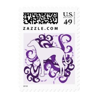 Purple Swirl Azawakh Stamps
