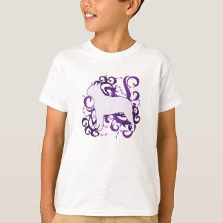 Purple Swirl Boston Terrier T-Shirt