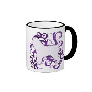 Purple Swirl Brussels Griffon Ringer Mug