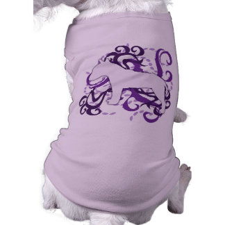 Purple Swirl Bull Terrier Pet T-shirt