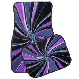 Purple Swirl Car Mats
