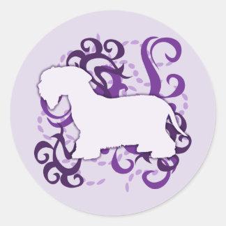 Purple Swirl Cesky Terrier Classic Round Sticker