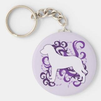Purple Swirl Chesapeake Bay Retriever Keychain