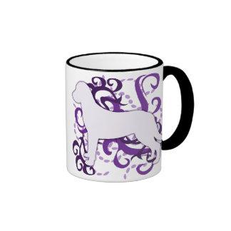 Purple Swirl Chesapeake Bay Retriever Ringer Mug