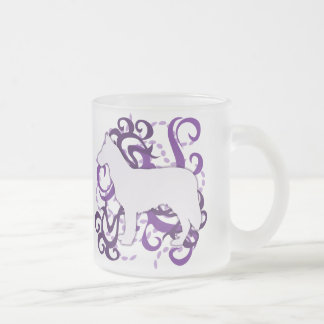 Purple Swirl Chinook 10 Oz Frosted Glass Coffee Mug