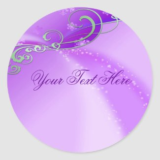 Purple Swirl Christmas Envelope Sticker/seal sticker