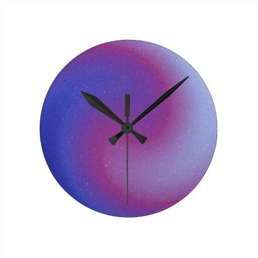 Purple Swirl Clock