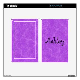 Purple Swirl Custom Name Kindle Fire Skins