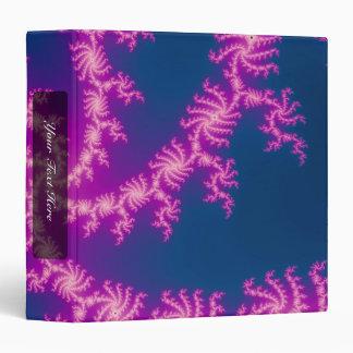 Purple Swirl - Fractal Art 3 Ring Binder