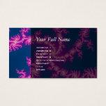 Purple Swirl - Fractal Art Business Card