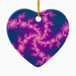 Purple Swirl - Fractal Art Ceramic Ornament