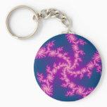 Purple Swirl - Fractal Art Keychain