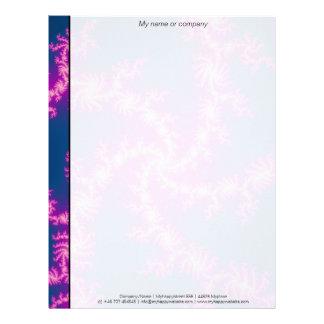 Purple Swirl - Fractal Art Letterhead