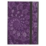 Purple Swirl Fractal Art Pattern iPad Cases