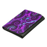 Purple Swirl Fractal Art Pattern Wallets
