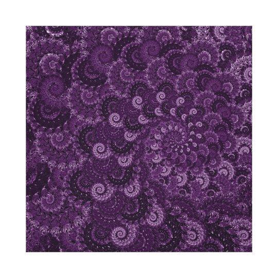 Purple Swirl Fractal Pattern Canvas Print
