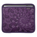 Purple Swirl Fractal Pattern iPad Sleeve