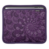 Purple Swirl Fractal Pattern iPad Sleeve