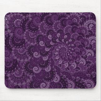 Purple Swirl Fractal Pattern Mousepads