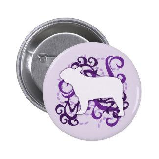 Purple Swirl French Bulldog Buttons