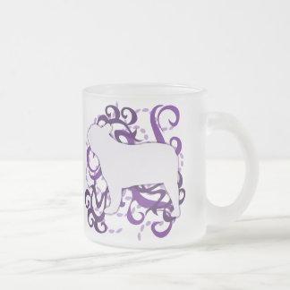 Purple Swirl French Bulldog Mugs