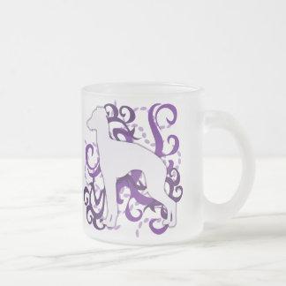 Purple Swirl Italian Greyhound Mug