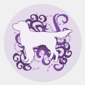 Purple Swirl Llewellin Setter Classic Round Sticker