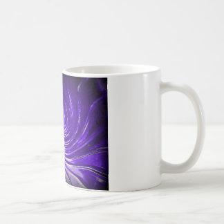 Purple Swirl Martini Glass enhanced digitally Coffee Mug