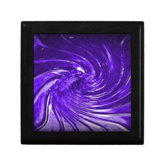 Purple Swirl Martini Glass enhanced digitally Jewelry Box
