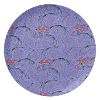 purple swirl melamine plate