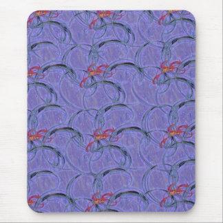 purple swirl mouse pad