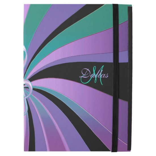 Purple Swirl Music Clef Monogram iPad Pro Case