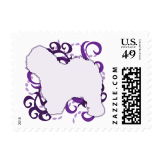 Purple Swirl Old English Sheepdog Postage
