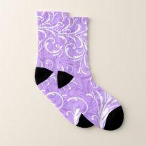 Purple Swirl Pattern Socks