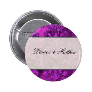 Purple swirl pinback button