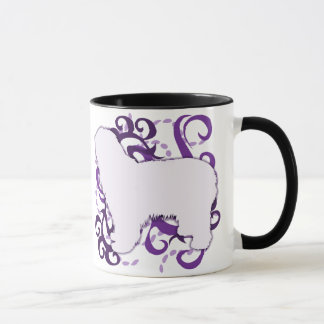 Purple Swirl Polish Lowland Sheepdog Mug