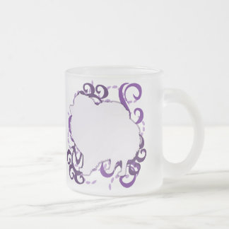 Purple Swirl Pomeranian Mug
