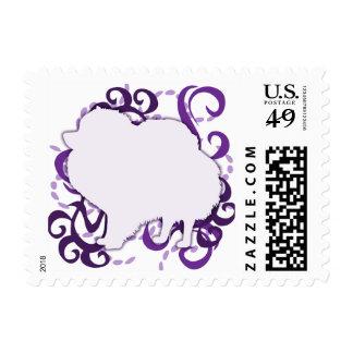 Purple Swirl Pomeranian Postage