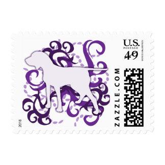 Purple Swirl Porcelaine Postage