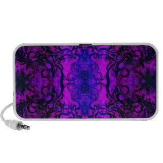 Purple Swirl Portable Speakers