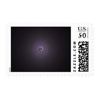 Purple swirl postage