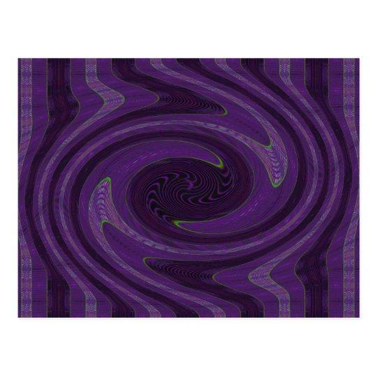 purple swirl postcard