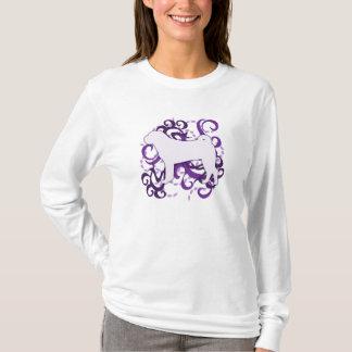 Purple Swirl Shar Pei T-Shirt