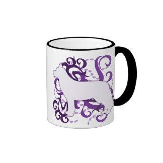 Purple Swirl Siberian Husky Ringer Mug