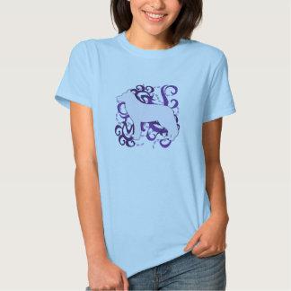 Purple Swirl Siberian Husky T Shirt